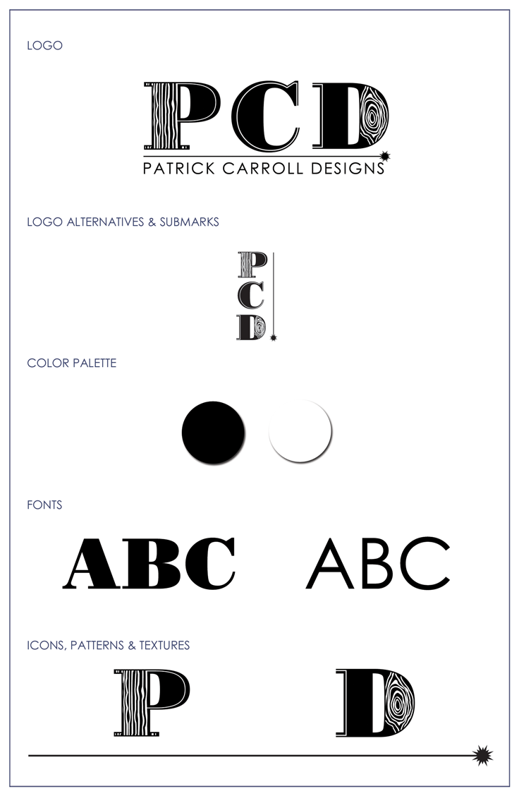 Cyn Thomas Design Style-Guide-Patrick-Carroll-Designs