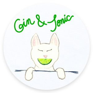 Gin and Tonic Cats and Cocktails Illustration