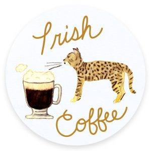 Irish Coffee Cats and Cocktails Illustration