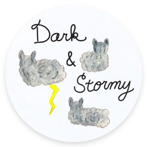 Dark and Stormy Cats and Cocktails Illustration